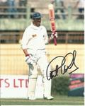 Colour 8x10 photograph autographed by legendary cricketer Graham Gooch