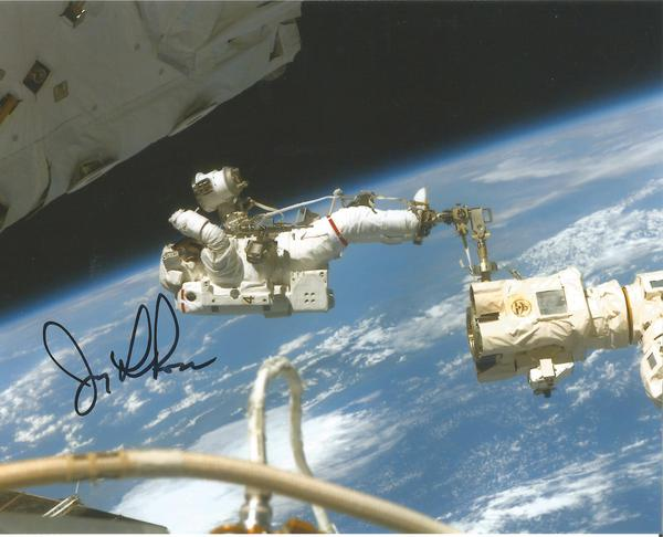 Jerry Ross Nasa Astronaut signed 10 x 8 colour EVA space photo