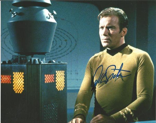 William Shatner as James T Kirk signed Star Trek colour 10 x 8 photo.