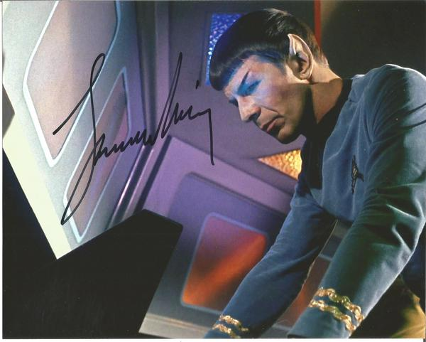 Star Trek Leonard Nimoy as Spock signed colour 10 x 8 photo.