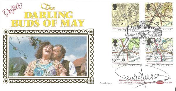 David Jason signed Benham Maps Darling Buds of May official FDC