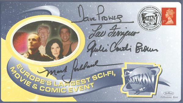 Dave Prowse, Lou Ferrigno, Mark Goddard, Julie Brown signed Multicon Autograph show cover