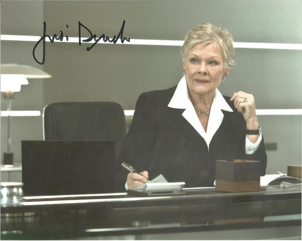 Judi Dench as M in James Bond signed 10 x 8 colour photo