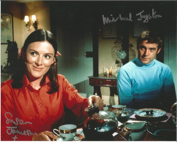 Susan Jameson and Michael Jayston UFO signed colour 10x8 Photo