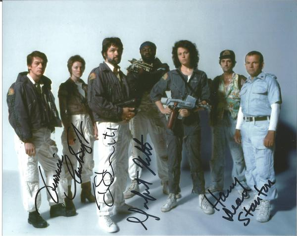 Alien 8x10 Photo Signed By Veronica Cartwright, Tom Skerritt, Yaphet Kotto And Harry Dean Stanton