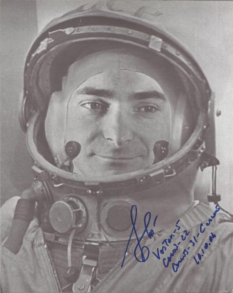 Valery Bykovsky Soviet cosmonaut signed 10 x 8 b/w photo has added all his missions after the autpgraph RARE