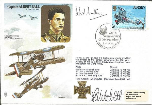 Air Cdre H. F. W. Battle signed RAFM HA2 cover commemorating Captain Albert Ball.