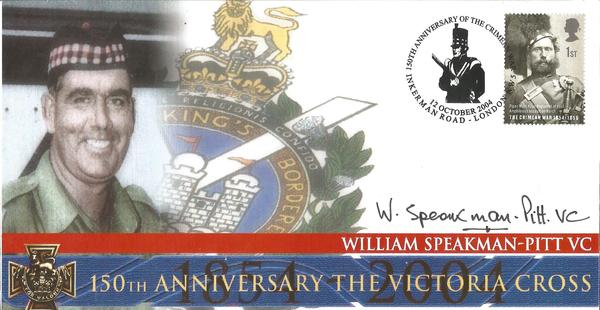 W Speakman-Pitt VC WW2 signed on his own 2004 cover comm 150th ann of the Victoria Cross.