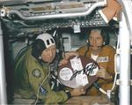 Tom Stafford Astronaut signed 10 x 8 colour Apollo Soyuz Test Project photo