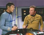 Star Trek Leonard Nimoy as Spock and William Shatner as James T Kirk signed colour 10 x 8 photo
