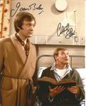 James Bolam and Christopher Strauli Only When I Laugh Signed 10x8 colour photo